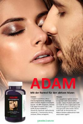 Nahrungsergänzung - Adam, mit der Formel für den aktiven Mann.